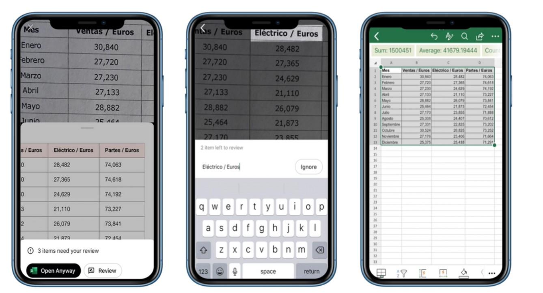 Excel: Wstawianie danych z obrazu do arkusza kalkulacyjnego, już w drodze na iOS 17