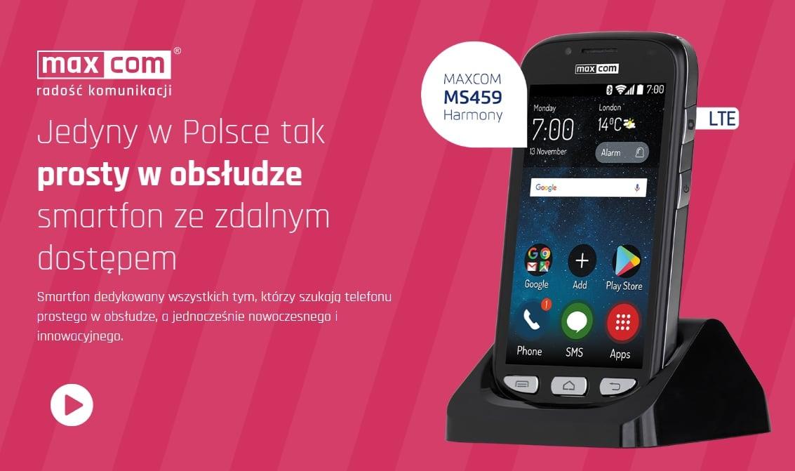 Maxcom MS459 Harmony - jedyny w swoim rodzaju smartfon w promocji w Play