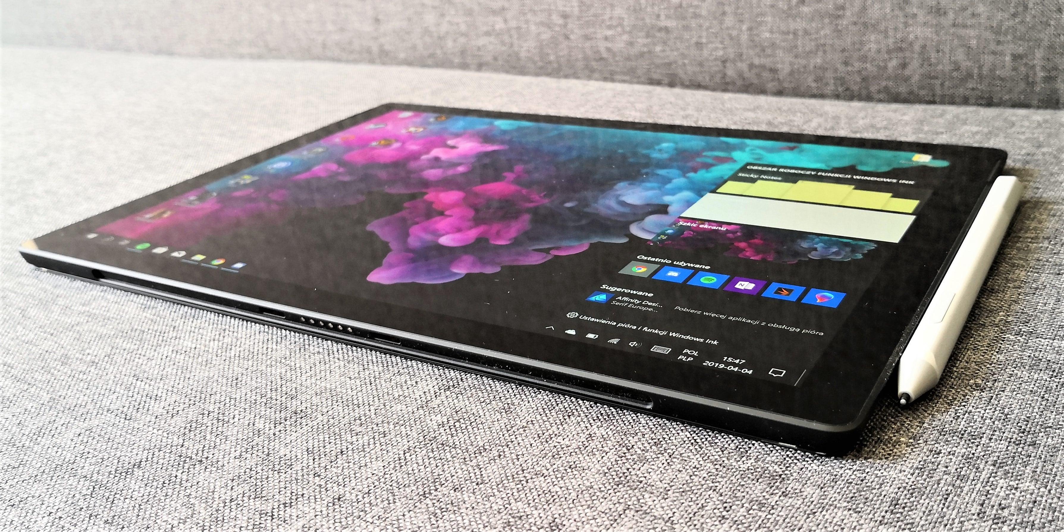 Odświeżony rysik to chyba jedyne, czym może zaskoczyć nas Surface Pro 7 19