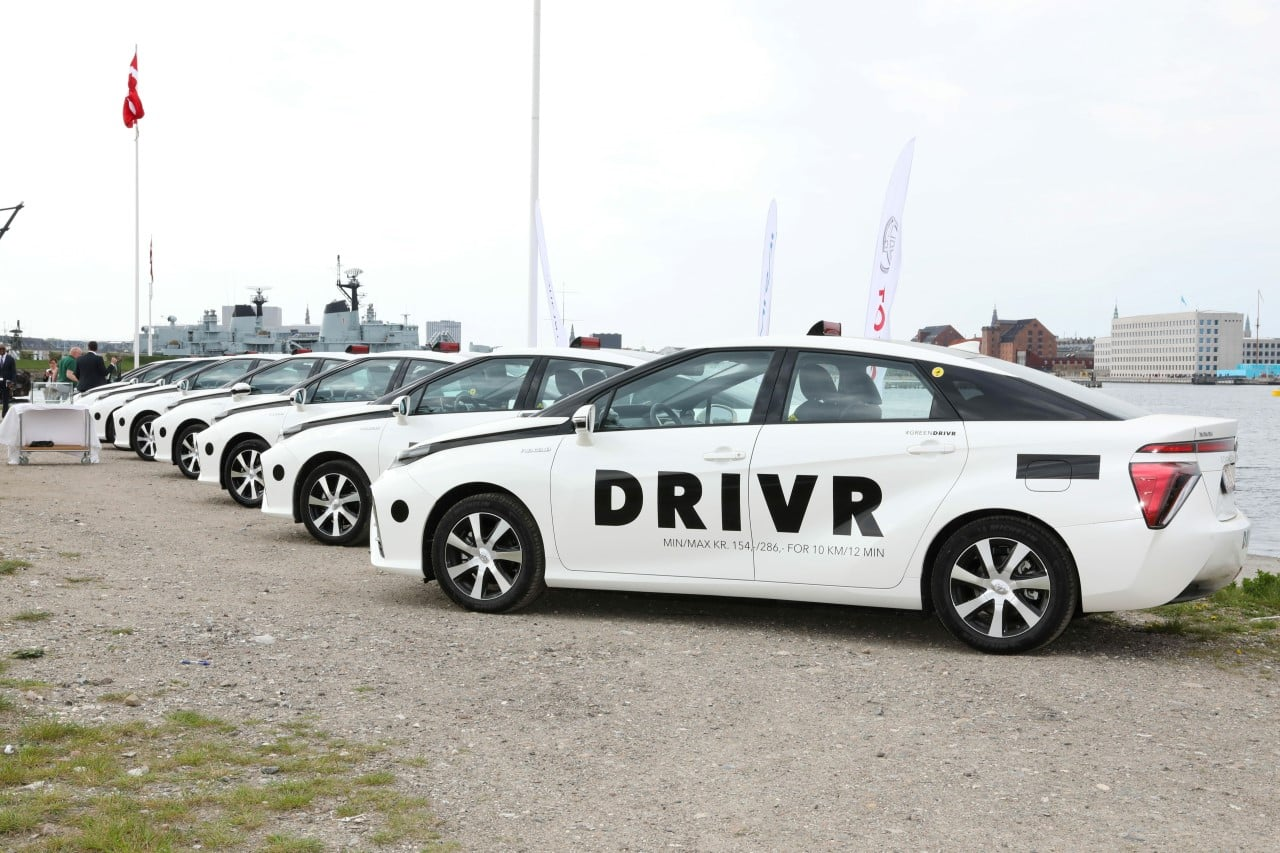 Wodorową taksówką Toyoty pojedziecie w Kopenhadze