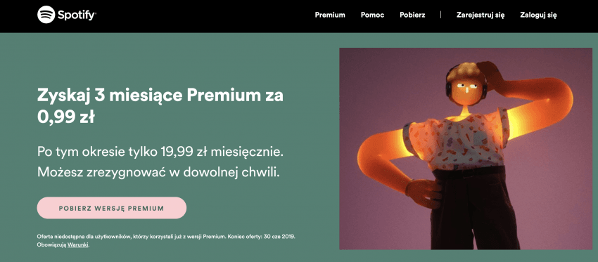 Promocja: Spotify Premium na 3 miesiące za 99 groszy!