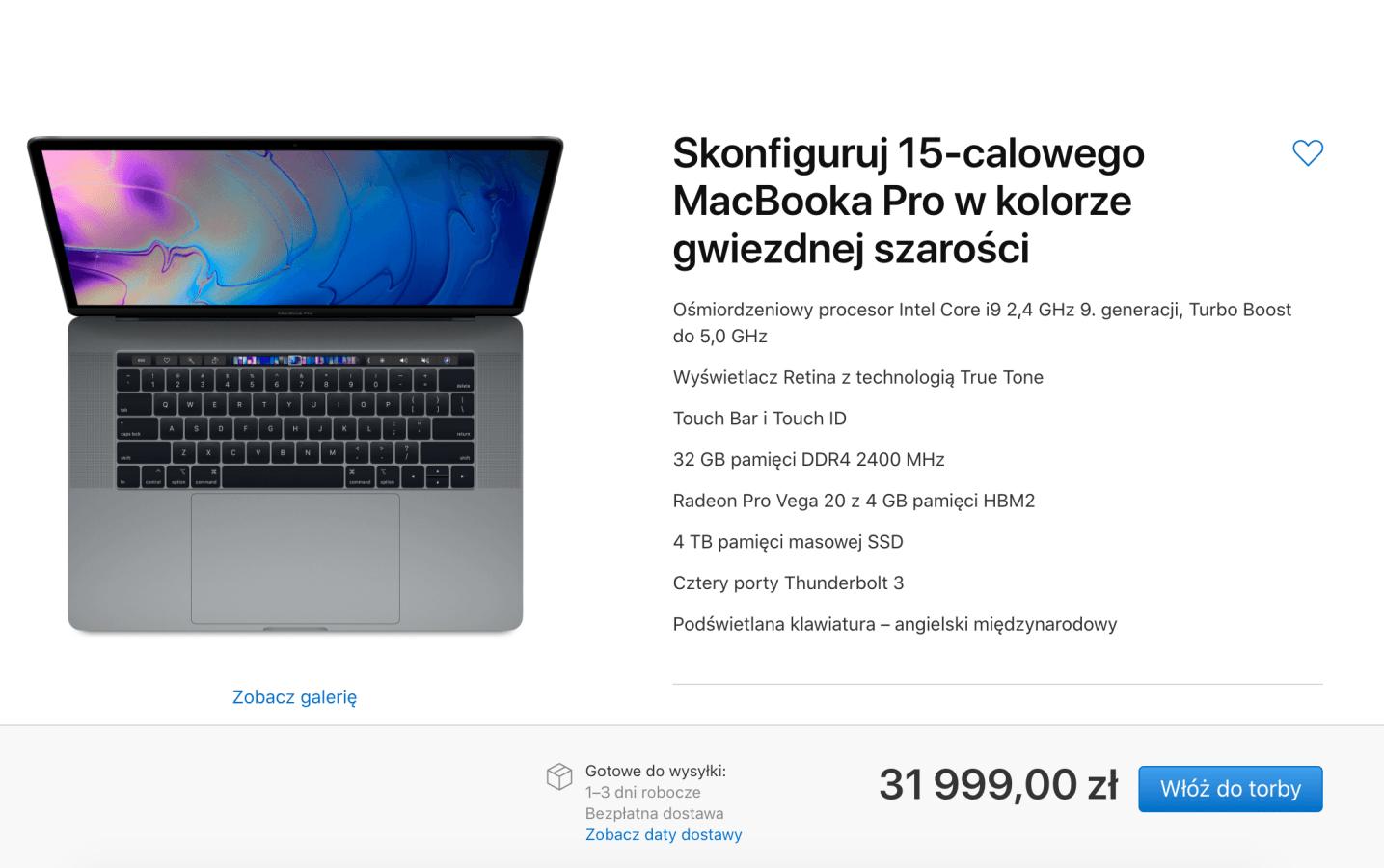 Oto nowe MacBooki Pro. Topowy model z ośmiordzeniowym procesorem Intela