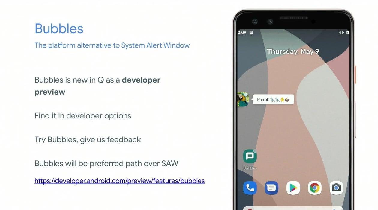 """Kończy się saga z """"bąbelkami"""" w Androidzie Q"""