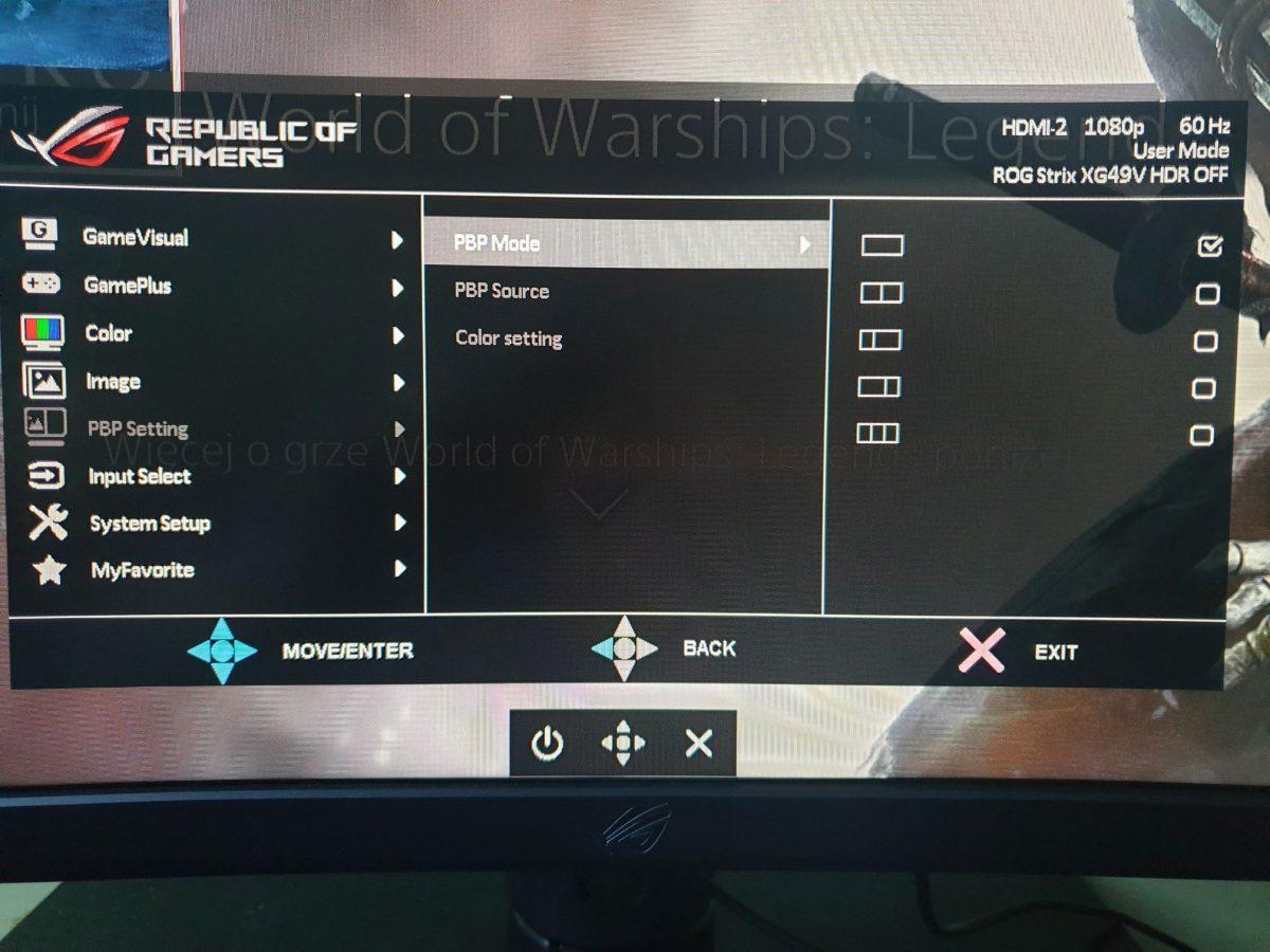 Recenzja monitora ASUS ROG Strix XG49VQ - super ultrapanoramiczne problemy pierwszego świata