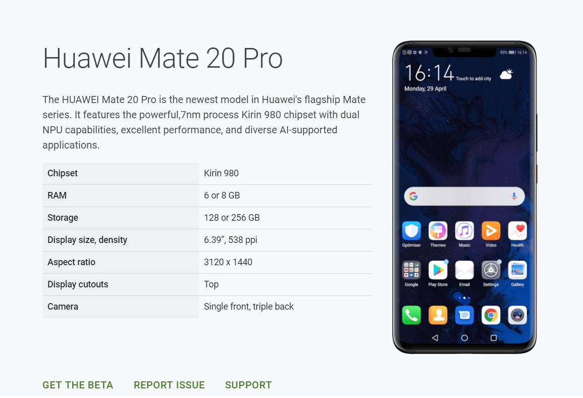 Huawei ze światełkiem w tunelu: Mate 20 Pro wraca do programu beta Androida Q 21