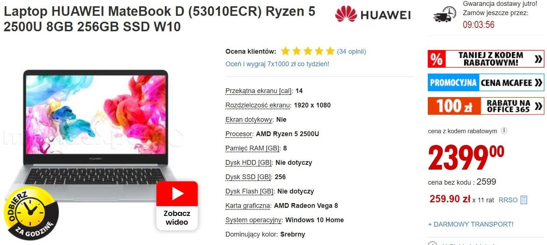 To najlepiej sprzedający się laptop w Polsce w lutym i marcu. Teraz kupicie go o 200 zł taniej