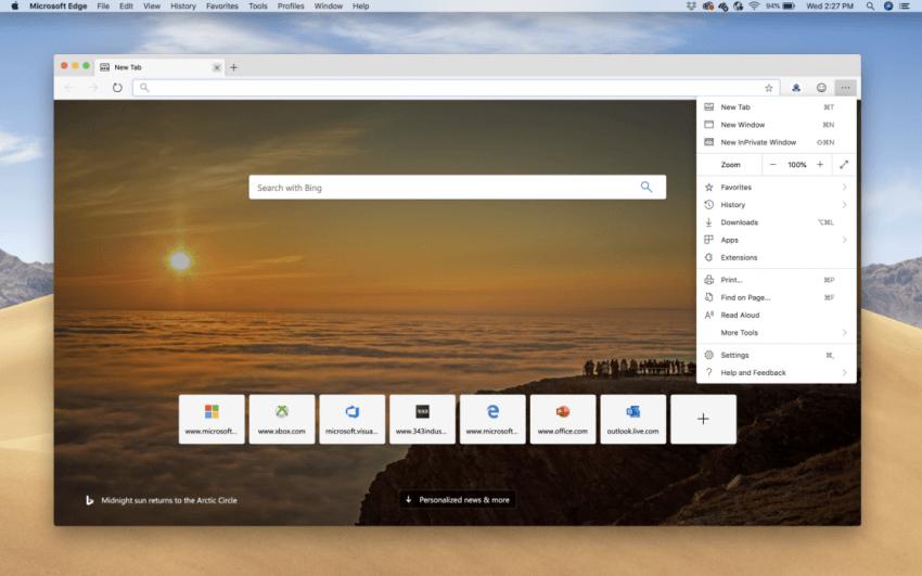Microsoft Edge oficjalnie debiutuje na macOS. Każdy może sprawdzić nową przeglądarkę