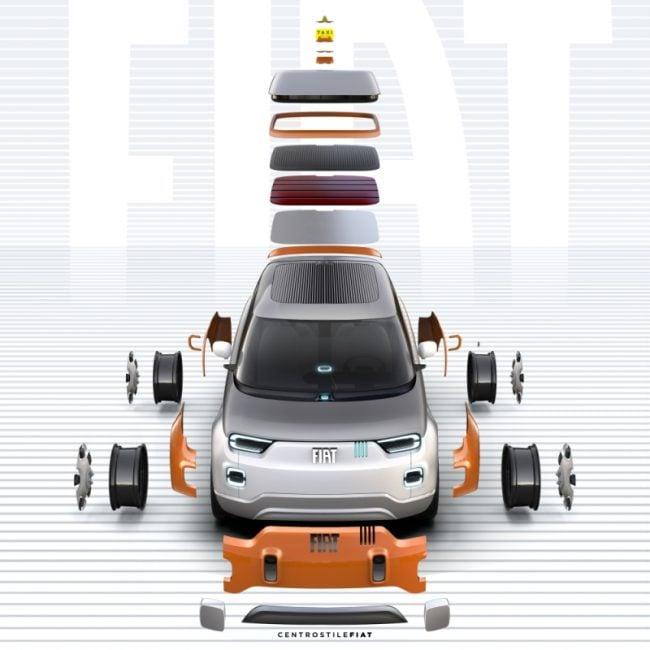Elektryczny i w pełni konfigurowalny Fiat - Concept Centoventi