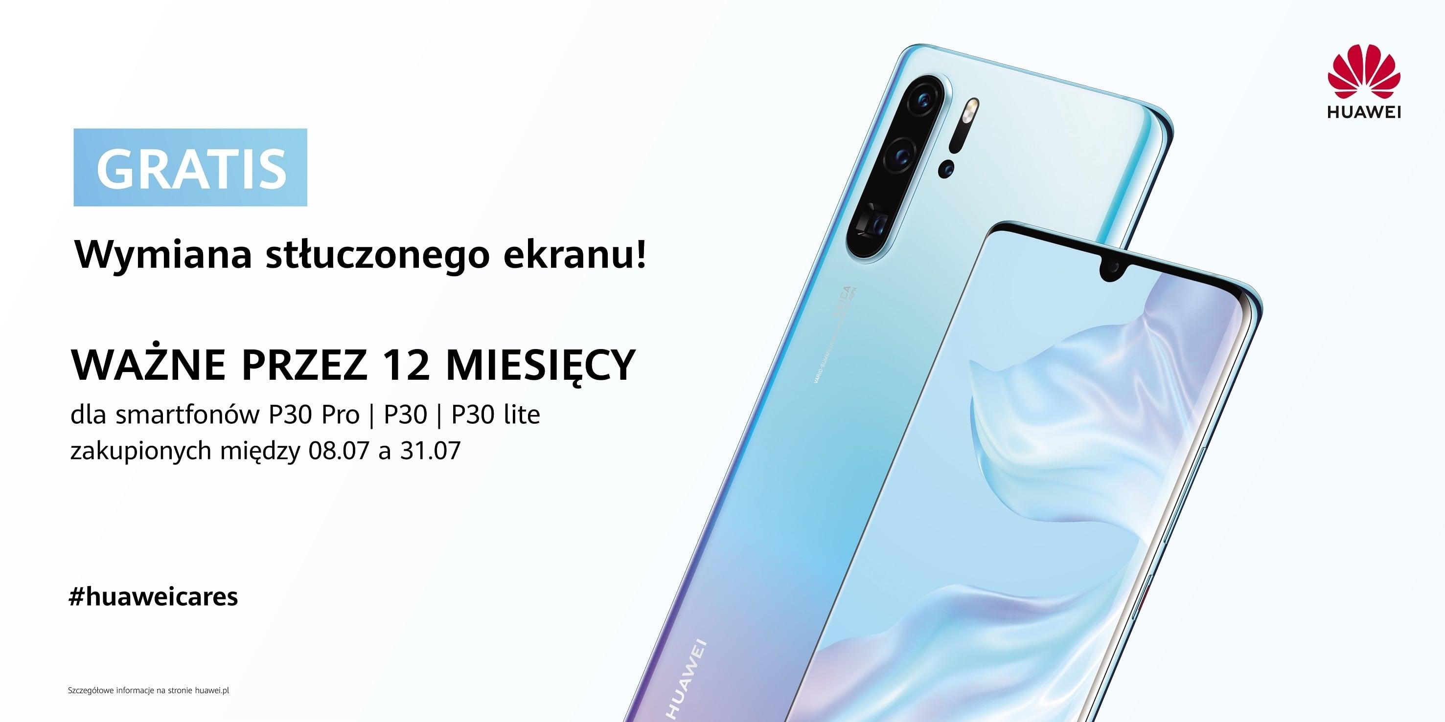 Zamierzasz kupić smartfon Huawei z serii P30 (w tym lite)? Dostaniesz roczną ochronę ekranu za darmo