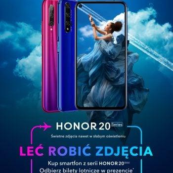Takiej promocji jeszcze nie było! Kup smartfon z serii Honor 20, a dostaniesz... bilety na samolot 18