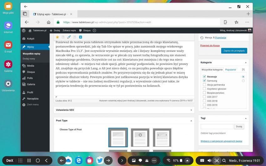 Samsung Galaxy Tab S5e - tablet, który próbuje zastąpić komputer
