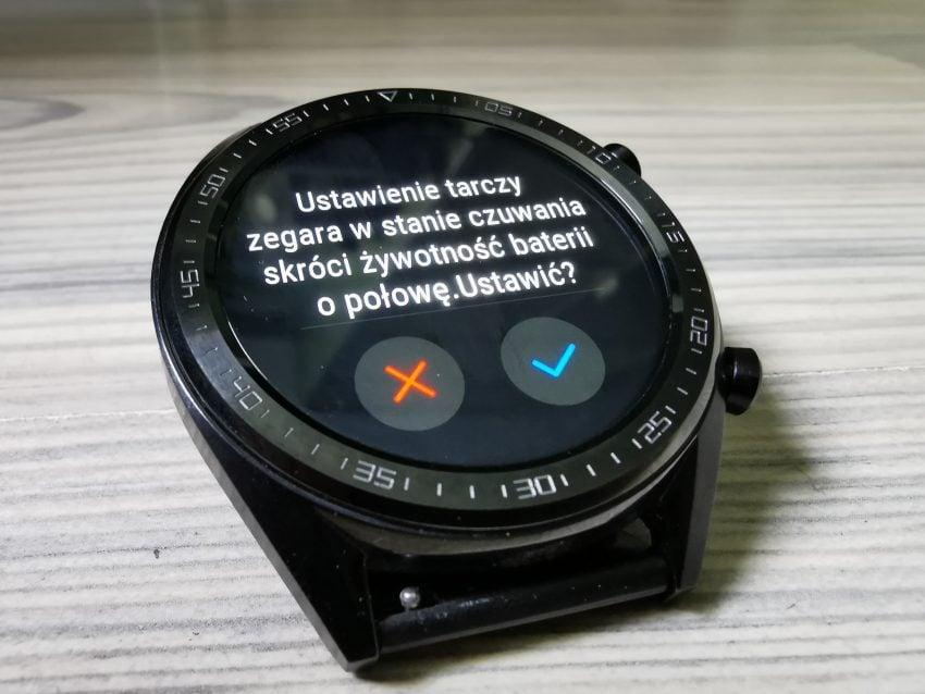 Wiele osób na to czekało - Huawei Watch GT wreszcie z opcją ciągłego wyświetlania godziny!