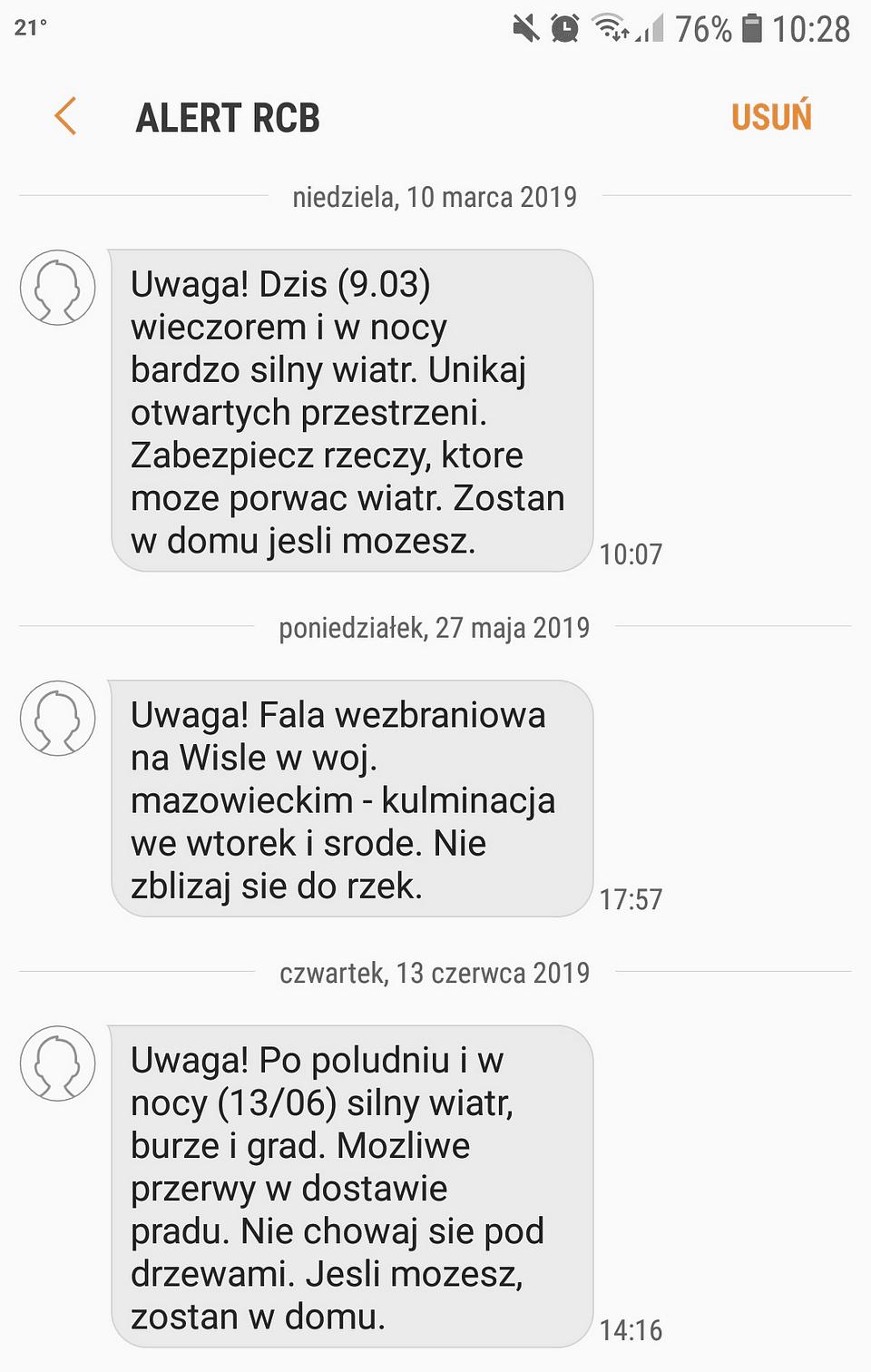 Polacy chętnie otrzymywaliby od urzędów wiadomości w postaci SMS-ów