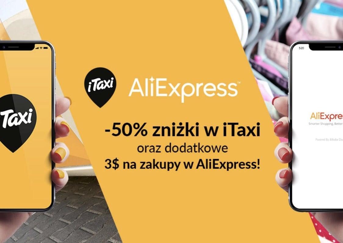 Promocja na początek wakacji: przejazdy iTaxi o 50% taniej i 3 dolary na zakupy na AliExpress