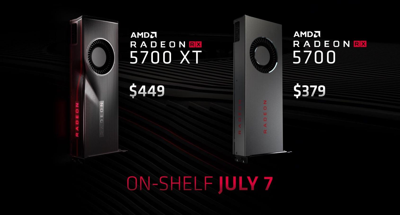 Ceny Radeonów RX 5700