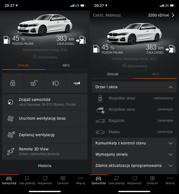 Nowe BMW serii 3, smartfon i Apple Watch – sprawdziłem, co oferuje BMW Connected 21