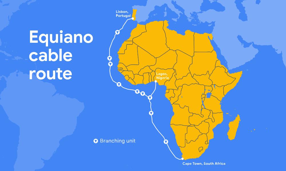 Trzeci prywatny kabel podmorski od Google połączy Europę z Afryką