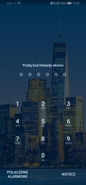 Do czego można wykorzystać skaner linii papilarnych w Huawei P30 lite?