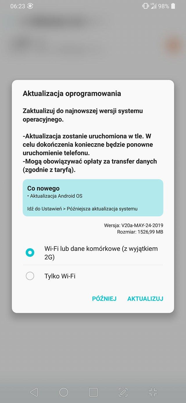 LG V40 ThinQ w końcu z aktualizacją do Androida 9.0 Pie