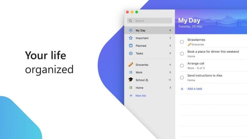 Po dwóch latach, Microsoft udostępnia aplikację To-Do dla komputerów Apple 20