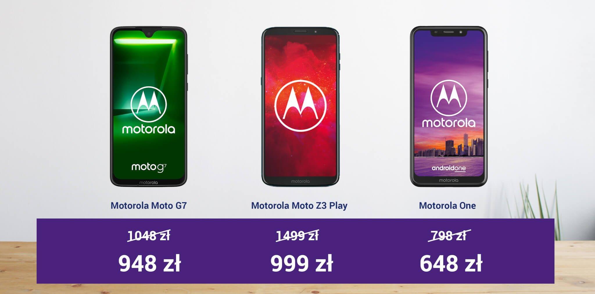 Tydzień z Motorolą w Play - kupicie taniej Moto Z3 Play, Moto G7 i Motorolę One