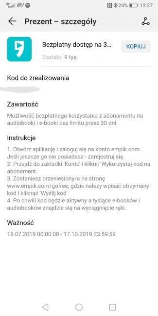 Darmowe audiobooki i ebooki z Empik GO dla użytkowników smartfonów i tabletów Huawei
