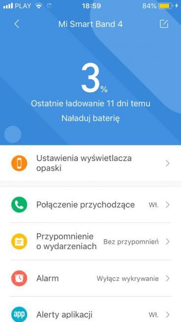 Recenzja Xiaomi Mi Band 4 - jeden (niestety duży) krok od opaski idealnej 32