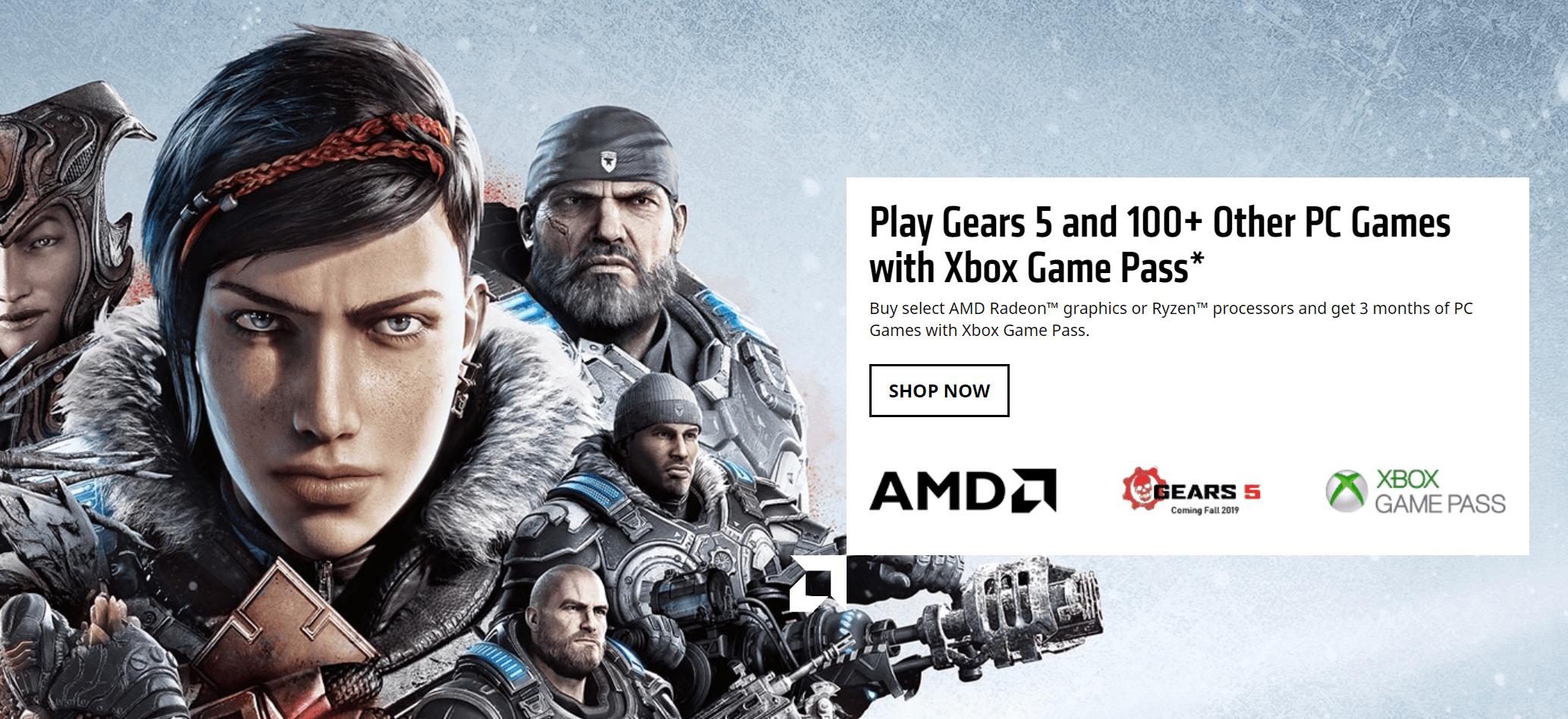 Xbox Game Pass gratis do wybranych produktów AMD 21