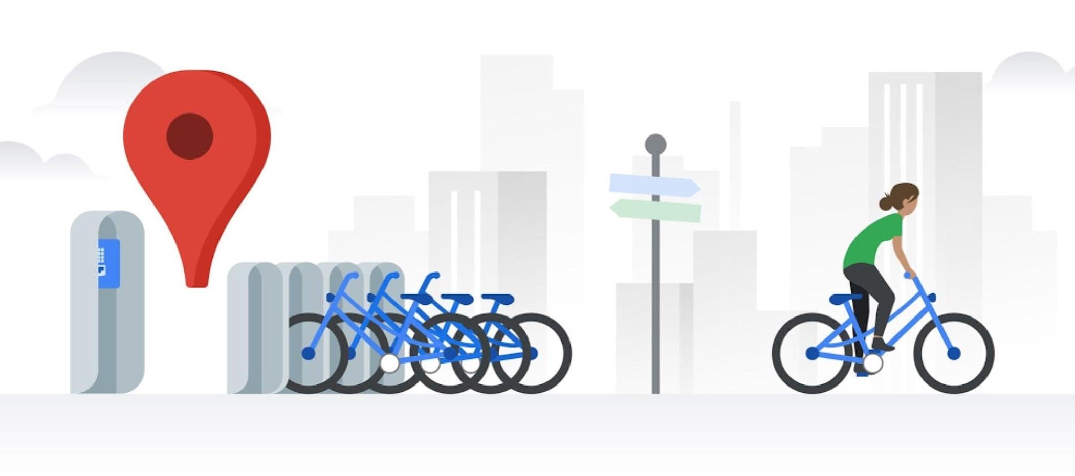 Informacje o rowerach do wypożyczenia od dziś w Mapach Google dla Warszawy