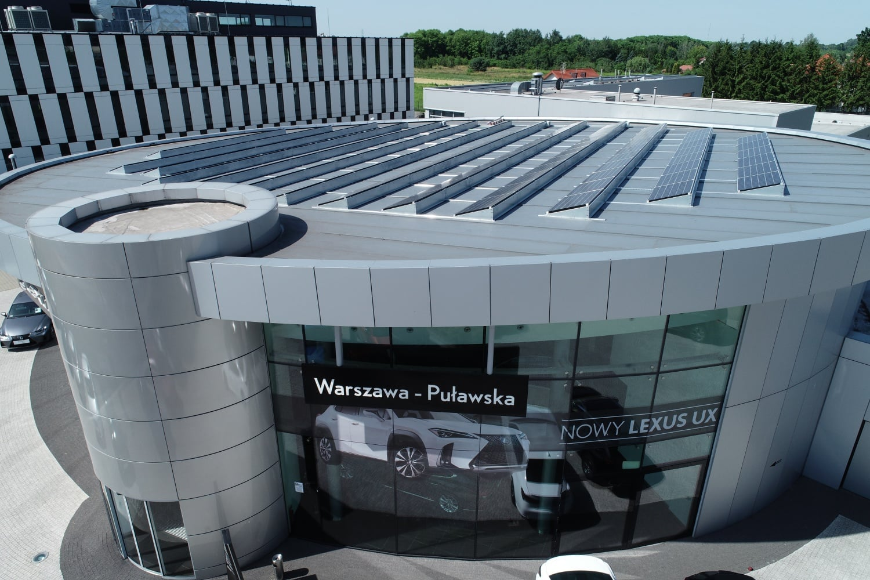 Polski salon Lexusa wykorzysta ekologiczne ogniwa fotowoltaiczne