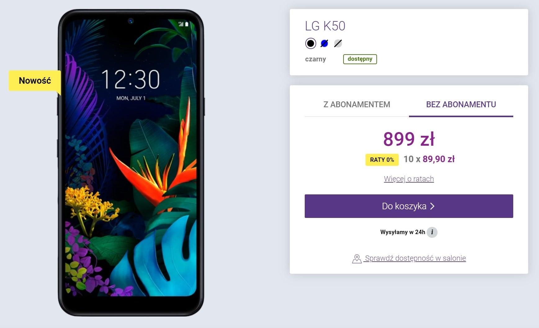 LG K50 w Polsce. Cena to jakaś pomyłka 22