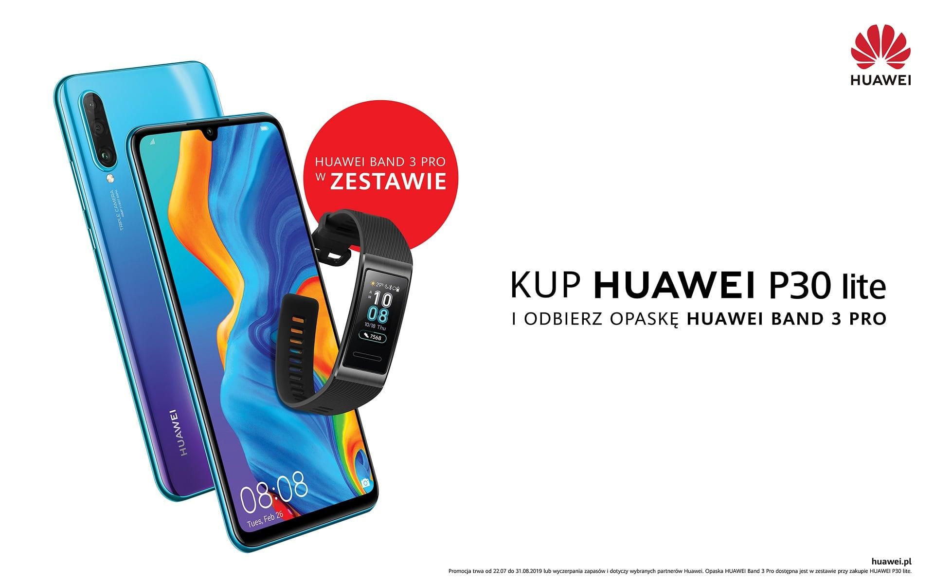 Promocja: kup Huawei P30 Lite, a opaskę Band 3 Pro dostaniesz gratis
