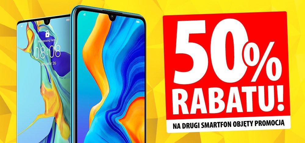 Promocja w Media Expert: 50% rabatu na drugi smartfon Huawei