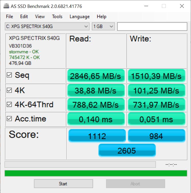Dysk SSD Adata XPG Spectrix S40G 512 GB - szybko i kolorowo