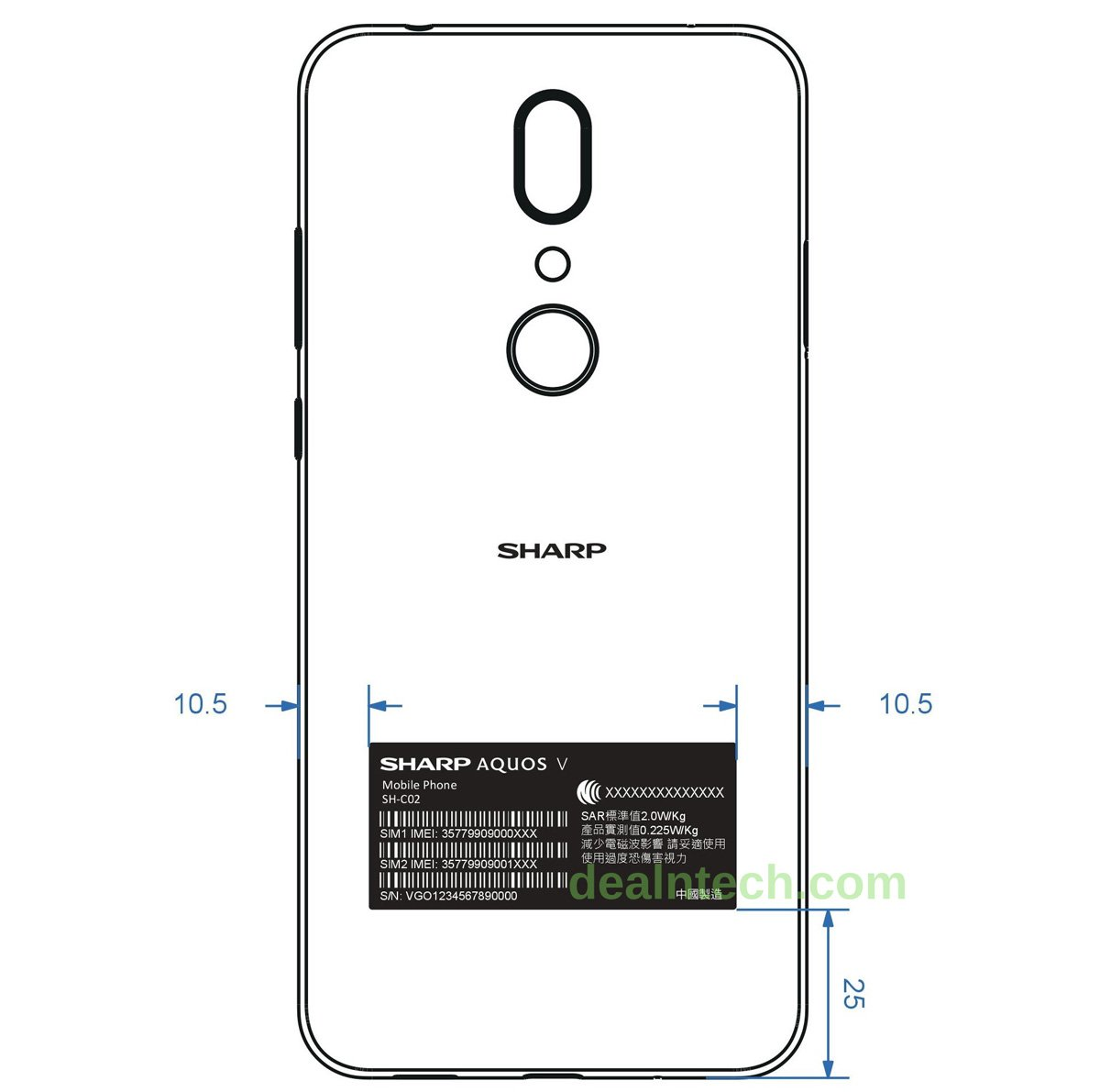 smartfon Sharp Aquos V