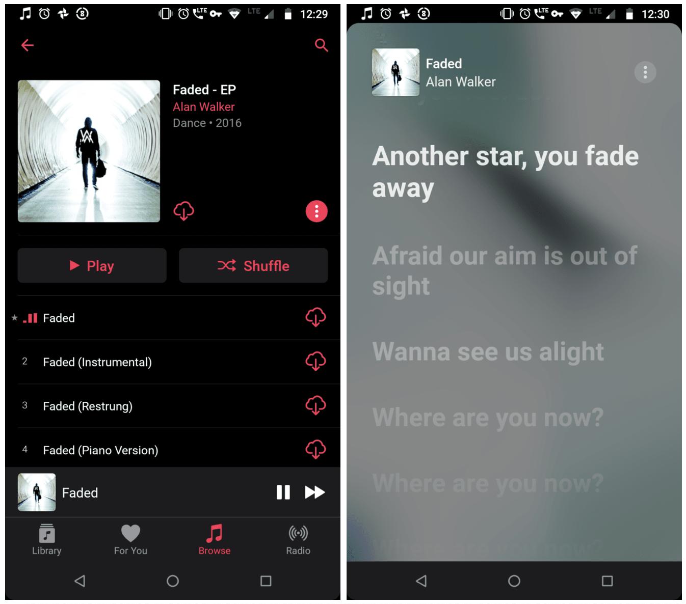 Tak, Apple pamięta o Androidzie. Można testowaćciemny motyw w Apple Music