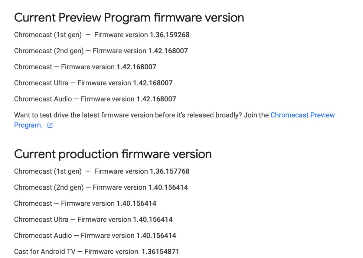 Pierwszy Chromecast już bez dużych aktualizacji oprogramowania