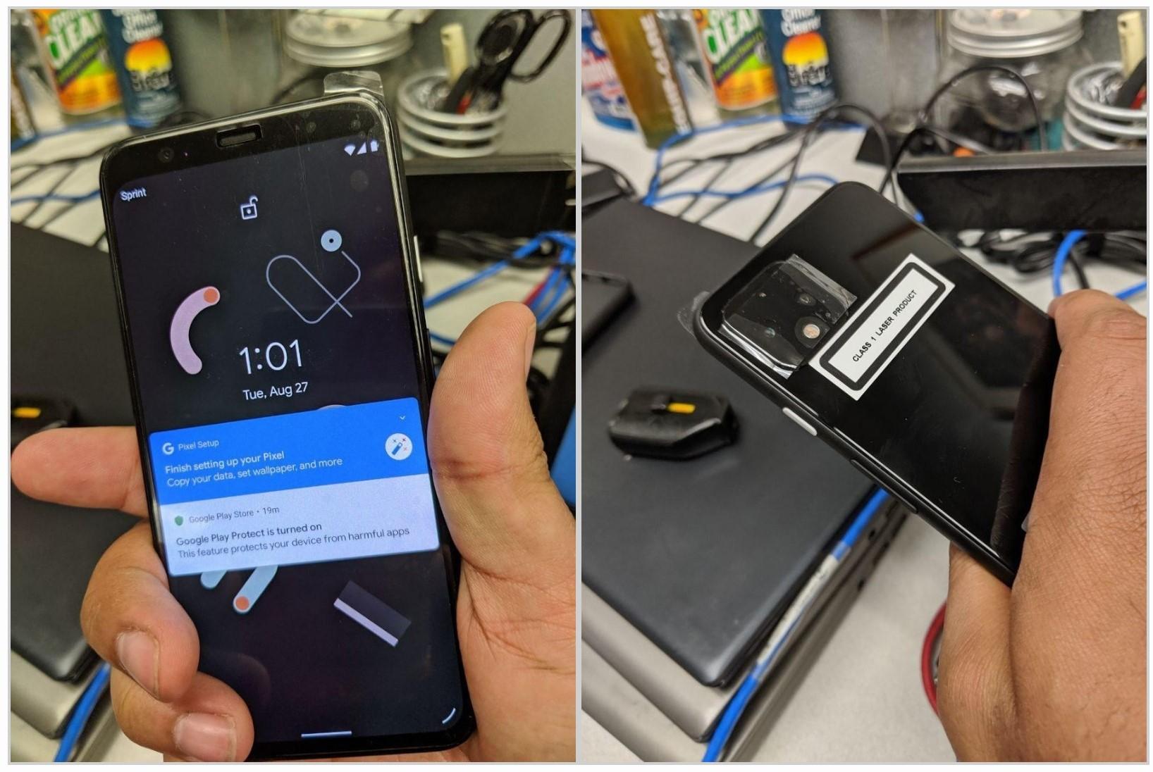 Prawdziwe zdjęcia Google Pixel 4. Jest podwójny aparat, ale nie ma dwukolorowej obudowy