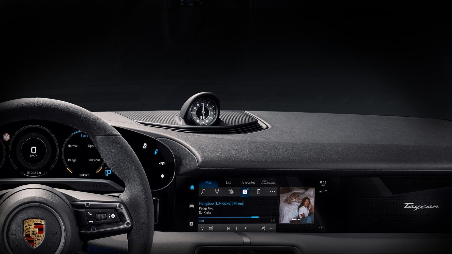 Porsche Taycan z natywną obsługą Apple Music. Poproszę takąfunkcję w innych samochodach