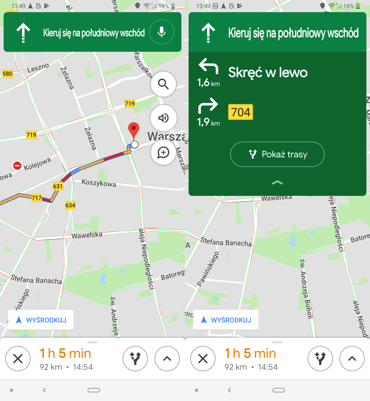 Mapy Google z odświeżonym ekranem nawigacji i szerszym dostępem do funkcji AR