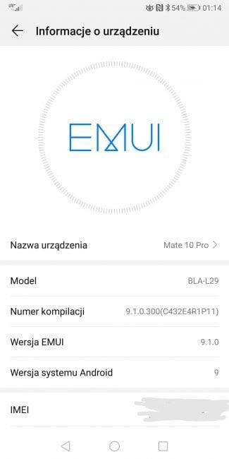 EMUI 9.1 już na Huawei Mate 10 Pro i P Smart 30