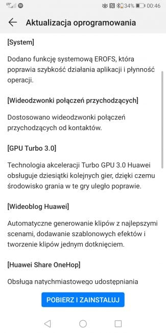 EMUI 9.1 już na Huawei Mate 10 Pro i P Smart 21