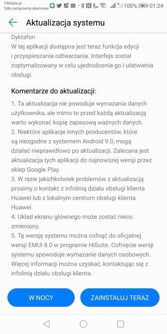 EMUI 9.1 już na Huawei Mate 10 Pro i P Smart 33