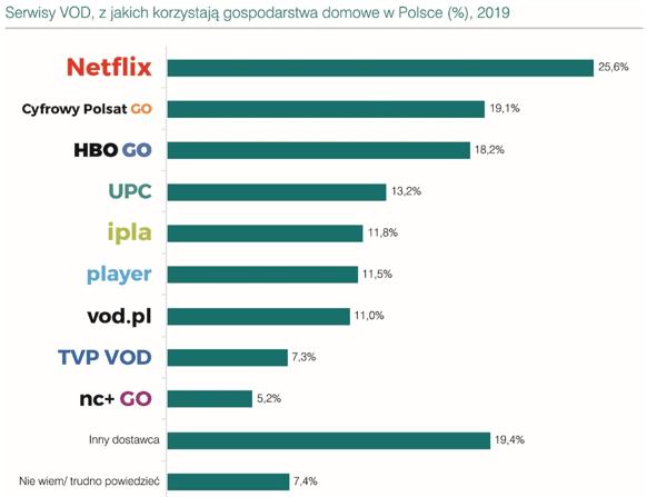 Rynek VoD w Polsce. Netflix ma w nim największy udział 19