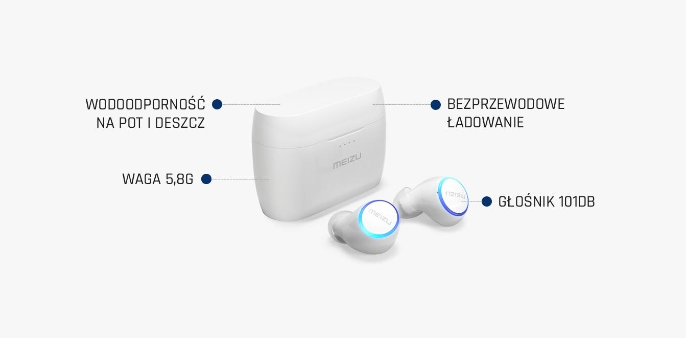 słuchawki bezprzewodowe Meizu POP 2