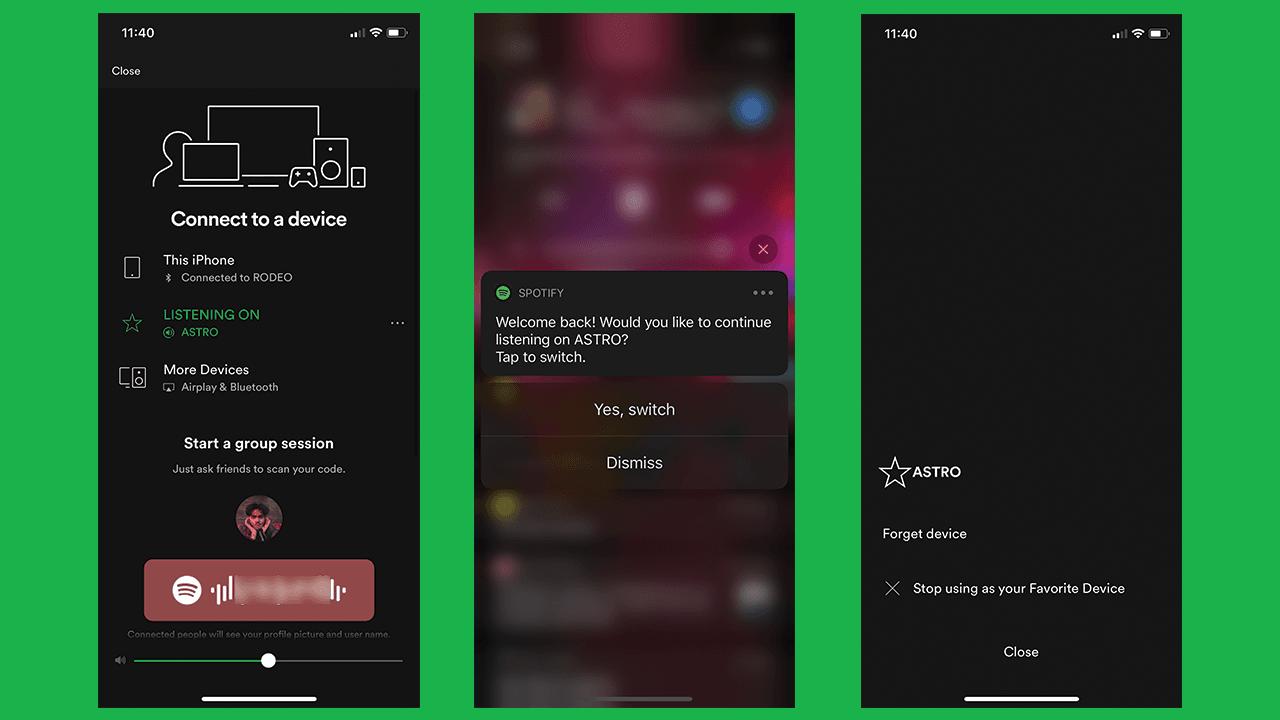 Spotify z funkcją ulubionego urządzenia i lepszą integracjąz Siri