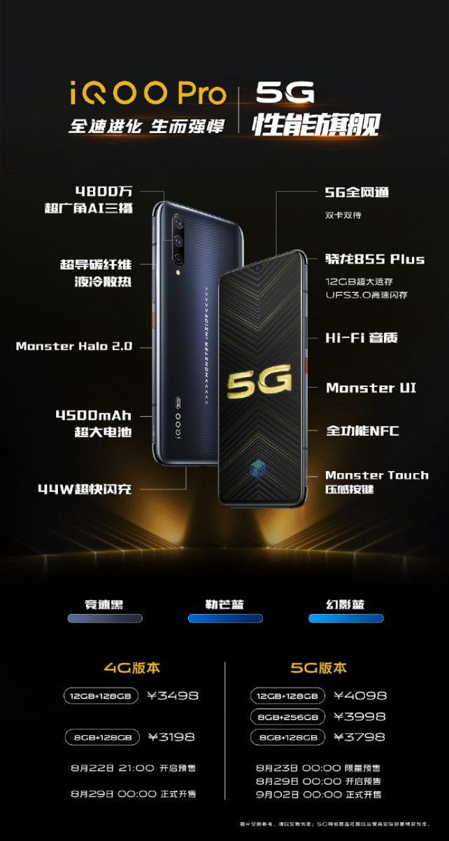 Mocarny Vivo iQOO Pro oficjalnie zaprezentowany w Chinach. Ma Snapdragona 855+