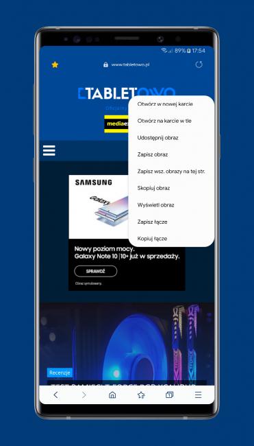 Mobilna przeglądarka Samsung Internet Browser Beta właśnie stała się jeszcze lepsza 24