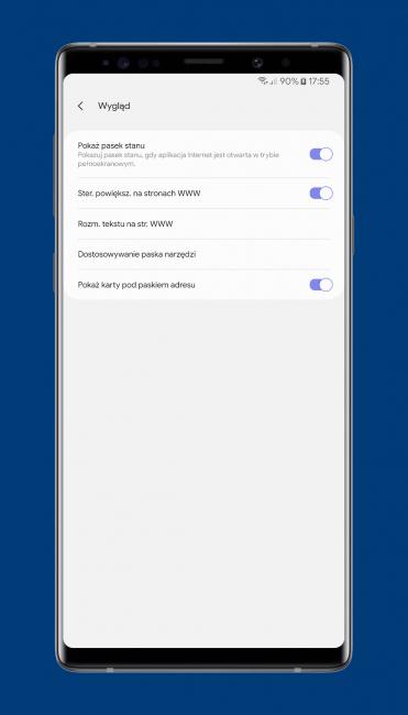 Mobilna przeglądarka Samsung Internet Browser Beta właśnie stała się jeszcze lepsza 23