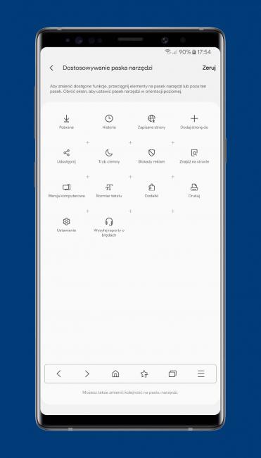 Mobilna przeglądarka Samsung Internet Browser Beta właśnie stała się jeszcze lepsza 22
